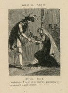 Henry VI, part III, act III, scene 2, Lady Grey: I know I am too mean to be your queen; and yet too good to be your concubine [graphic] / [John Thurston] ; engraved by Allen Robert Branston.