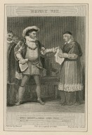 Henry VIII ... Read o'er this, act III, scene I [i.e. sc. 2] [graphic] / painted by Howard ; engraved by C. Heath.