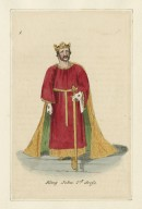 [Costume designs for King John, showing most of the characters] [graphic].