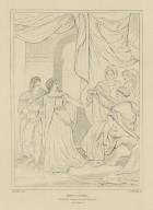 King Lear : [graphic] Cordelia, France, Goneril, Regan &c., act 1, scene 1 / Smirke, del. ; T. Starling, sc.