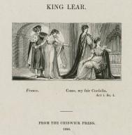King Lear, France: Come, my fair Cordelia ; act i, sc. 1 [graphic] / [John Thompson].