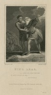 """King Lear: """"-Pour on; I will endure in such a night as this"""" ; act 3, scene 4 [graphic] / Thurston del. ; Rhodes Sculp."""