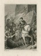Richard II, act 5, sc. 5 [ie. V, 2] [graphic] / Wright, del. ; S. Watts, sc.