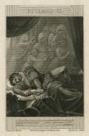 "Richard III, Ghost of King Henry: ""Awake, Richard, awake!"", act V, scene VI [i.e. 3] [graphic] / Howard del. ; engraved by C. Heath."