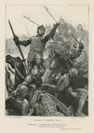 Richard at Bosworth Field, King Richard: I think there be six Richmonds in the field, five have I slain today instead of him, Richard III, Act V, scene IV [graphic] / drawn by A. Hopkins ; engraved by C. Carter.