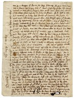Autograph letter signed from John Donne, Amiens, to Sir Robert More [manuscript], 1612 February 7.