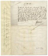 Receipt from John Donne to Sir Thomas Egerton [manuscript], 1602 July 6.