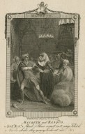 Macbeth ... and Banquo, act 3d, sc. 5th [i.e., sc. 4] ... Never shake thy gory locks at me [graphic] / Stothard, invt. ; Sharp, sculp.