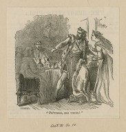 """[Macbeth, act III, sc. iv] """"Pr'ythee, see there!"""" [graphic] / A. Karst."""