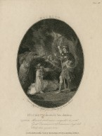 Macbeth ... foretold his destiny ... Macbeth shall never vanquish'd be, until Great Birnam wood to Dunsinane's high hill Shall come against him [act IV, scene 1] [graphic] / engraved by Charles Taylor from a drawing by Thomas Stothard.