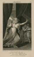 Macbeth, act 5, sc. 1, enter Lady Macbeth with a taper ... One; two; why, then 'tis time to do't: - Hell is murky! [graphic] / H. Fuseli, R.A., delt. ; C. Warren, scpt.