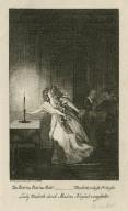 Zu bett! zu bett! --- Macbeth 5, Aufz 1ter Auftr, Lady Macbeth durch Madam Nouseul vorgestellt [graphic] / D. Chodowiecki, del et sc.
