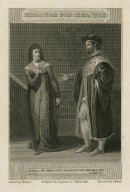Measure for measure ... He shall, not, Isabel, if you give me love, act II, scene III, [i.e. sc. 4] [graphic] / painted by Howard ; engraved by C. Heath.