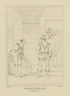 Measure for measure, act 4, scene 2 [i.e., sc. 3], Abhorson, Clown and Provost [graphic] / painted by R. Smirke, R.A. ; Starling, sc.