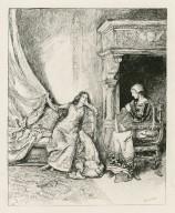 [Merchant of Venice, Portia & Nerissa, act I, scene 2] [graphic] / E.A. Abbey.