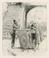 [Merchant of Venice, Launcelot and Gobbo, II, 2] [graphic] / [Edwin Austin Abbey].