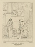Merchant of Venice, Shylock, Jessica & Launcelot, act II, scene V [graphic] / Smirke del. ; Starling sc.
