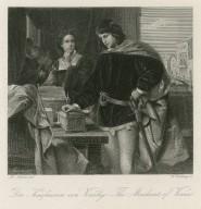 Der Kaufmann von Venedig = The merchant of Venice [act III, 2] [graphic] / M. Adamo del. ; G. Goldberg sc.