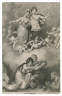 Oberon [and Titania with the fairies looking down on the lovers, Midsummer night's dream] [graphic] / H. Ramberg, del. ; J. Axmann, sc.
