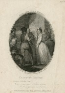 Much ado about nothing, [act IV, scene 4], Claudio's marriage [graphic] / engraved by Isaac Taylor junr., from a drawing by Robert Smirke.
