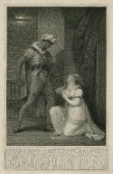 Othello, act 4, scene 2, an apartment in the castle, Desdemona & Othello [graphic] / painted by R.K. Porter ; engrav'd by Andw. Michel.