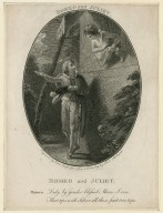 Romeo and Juliet ... Romeo: Lady, by yonder blessed Moon ... [act II, scene 2] [graphic] / engraved by Esaac Taylor Junr. from a drawing by Thos. Stothard.