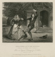 Christopher Sly & the Hostess. Taming of the shrew, act 1st, scene 1st [i.e. induction, scene 1] [graphic] / from an original drawing by J. Nash ; engraved by T. Hope.