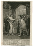 Timon of Athens, act 1, scene 2 ... [i.e. act 1, scene 1] [graphic] / painted by H. Howard ; engraved by R. Rhodes.