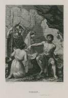 Timon [of Athens] act IV, scene III [graphic] / Al. Lacauchie, del. ; N. Desmadryl, sct.