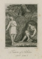 Timon of Athens, act V, scene I [i.e. act IV, scene 3] [graphic] / Rivers, delin ; Ridley, sculp.