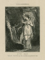 Titus Andronicus, act II, scene 3, Tamora: Farewell, my sons, see, that you make her sure [graphic] / [John Thurston] ; engraved by Allen Robert Branston.