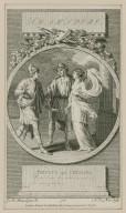 Triolus [sic] and Cressida: Come draw this curtain... act 3, sc. 2 [graphic] / J. M. Moreau, le jeune, Inv. ; N. Le Mire, sculp.