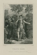 Twelfth night, Malvolio: I extend my hand to him thus, act II, sc. V [graphic] / J.M. Wright ; C. Heath.