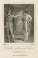 The two gentlemen of Verona, Act III, scene 1 [graphic] / Hopwood del. ; Hopwood sculp.