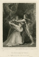Two gentlemen of Verona, Val.: Ruffian, let go ... act 5, scene 4 [graphic] / painted by T. Stothard R.A. ; engraved by J. Heath.