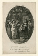 Winter's tale, Autolicus selling his wares, Aut: (sings) Get you hence, [act IV, scene IV] [graphic] / engraved by Isaac Taylor Junr. from a drawing by Robert Smirke.