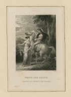 Venus and Adonis, Vouchsafe, thou wonder, to alight thy steed [graphic] / H. Corbould ; C. Rolls.