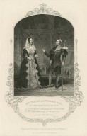 Mrs. Ternan and Mr. Lewis Ball, as the Countess Rousillon and her clown, Clo.: 'Tis not unknown to you madam ... All's well that ends well, act I, sc. 3 [graphic] / engraved by D. Pound from a daguerreotype by Paine of Islington.