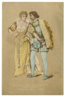 """Miss Ellen Terry & Mr. Henry Irving as Beatrice & Benedick in Much ado about nothing, Benedick: """"I love you with all my heart ..."""", [act IV, scene 2] [graphic] / Jack."""