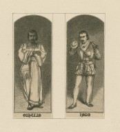 [Two pictures of Edwin Booth, mounted together in the roles of Shakespeare's Othello and Iago] [graphic].