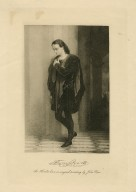 Edwin Booth as Hamlet ... [graphic] / from an original painting by John Pope.