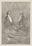 U.S., here's to Sir Henry Irving, right royally knighted, he who has so royally knighted many of my countrymen at the Lyceum and has proven acting is an art and himself its most brilliant champion [graphic] / Th. Nast, 1895.