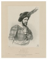 """[Charles Kemble as] Macbeth """"Accursed be the tongue ..."""" act 5, sc. 7 [graphic] / Lane."""