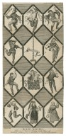 Morris Dancers. From an ancient window in the house of George Tollet Esqr. at Betley in Staffordshire [graphic] / Grignion sculpt.