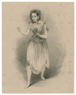 Miss P. Horton as Ariel in the Tempest [by Shakespeare] [graphic] / drawn by H. Johnston on stone by Weld Taylor.