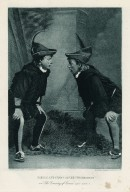 Robson and Crane as the two Dromios in the Comedy of errors, act V, scene 1 [graphic] / gravure, Gebbie & Husson Co. Ltd.