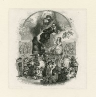 [Shakespeare surrounded by nature and characters from his plays] [graphic] / W. Harvey ; J. Thompson sc. ; engraving by Blanchard [no. 118].