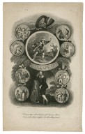 Shakespeare ... surrounded by scenes from his plays [graphic] / H. Heath delt. ; Emily Maverich [sic] sculp.