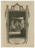 [King Henry IV, part 2, act IV, sc. 5], Prince Henry taking the crown from the pillow of his father King Henry IV ... [graphic] / Wale, delin. ; White, sculp.