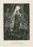 Austria, Bastard, and Constance ... Bastard, And hang a calf's skin on those recreant limbs, Austria, Thou dar'st not say so, villian for they life: King John, Act III, scene 1 [graphic] / drawn by A. Hopkins ; engraved by R. & E. Taylor.